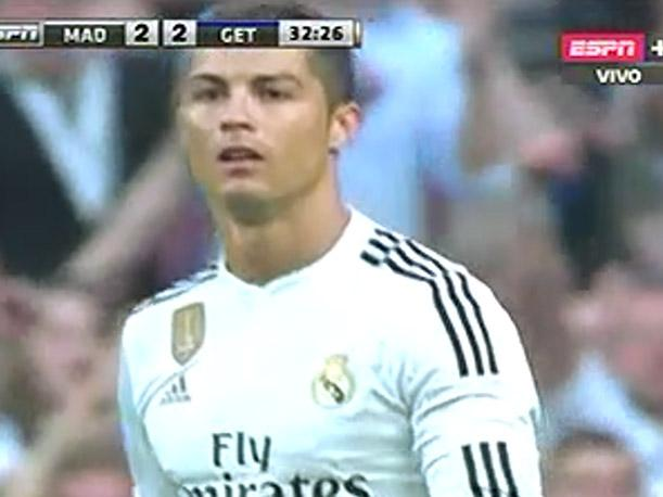Real Madrid vs Getafe: Cristiano Ronaldo anota de tiro libre (VIDEO)