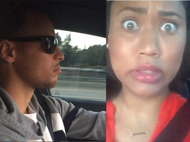 NBA: Esposa de Stephen Curry se sorprende por imitación (VIDEO)