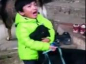 Facebook: This child saved a goat from being sacrificed