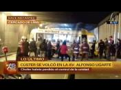 Accidente deja 8 heridos y afecta al Metropolitano (VIDEO)