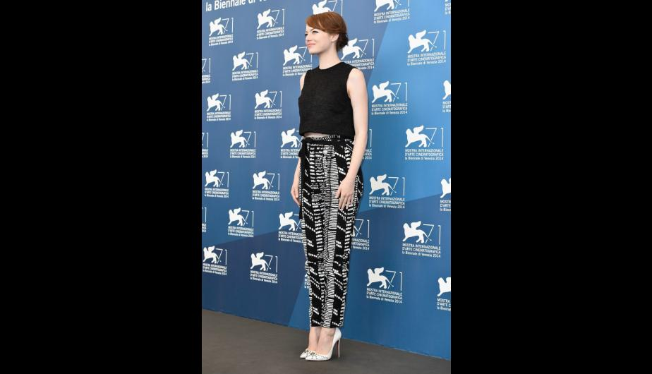 Emma Stone bella en white and black. (Foto: Getty Images)
