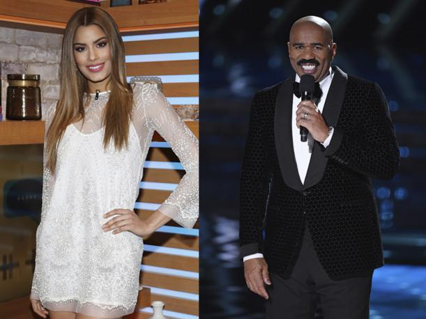 Miss Colombia y Steve Harvey así fue reencuentro tras Miss Universo