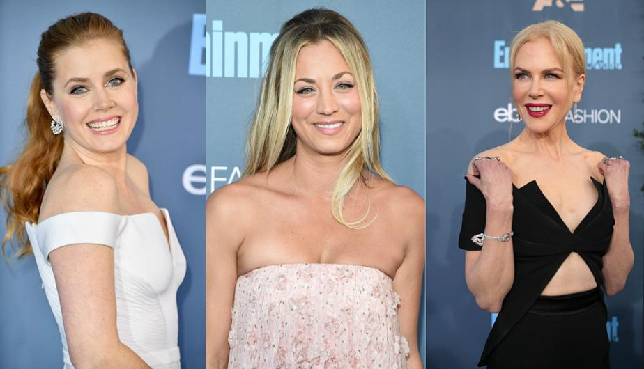 Kaley Cuoco, Emma Stone, Nicole Kidman, Michelle Williams, entre otras famosas brillaron en la alfombra roja de los Critics' Choice Awards. (Foto: Getty Images)