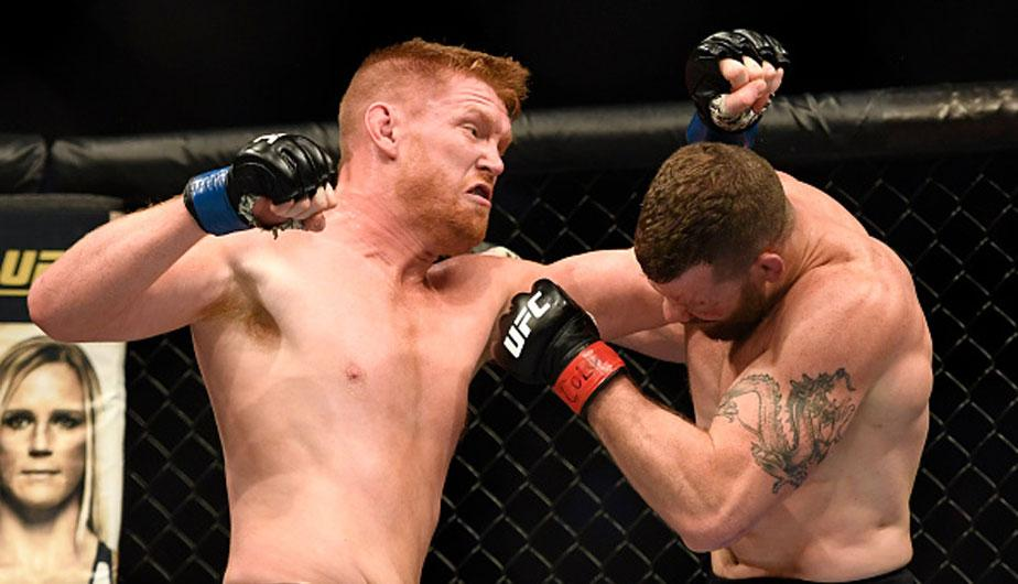 Sam Alvey venció por decisión unánime a Nate Marquardt en UFC Fight Night | Foto: Getty