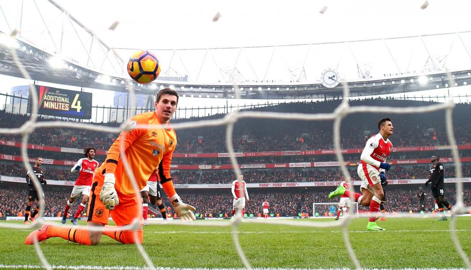 Arsenal vs Hull City se enfrentaron en el Emirates Stadium por la jornada 25 de la Premier League. (Foto: Getty Images)