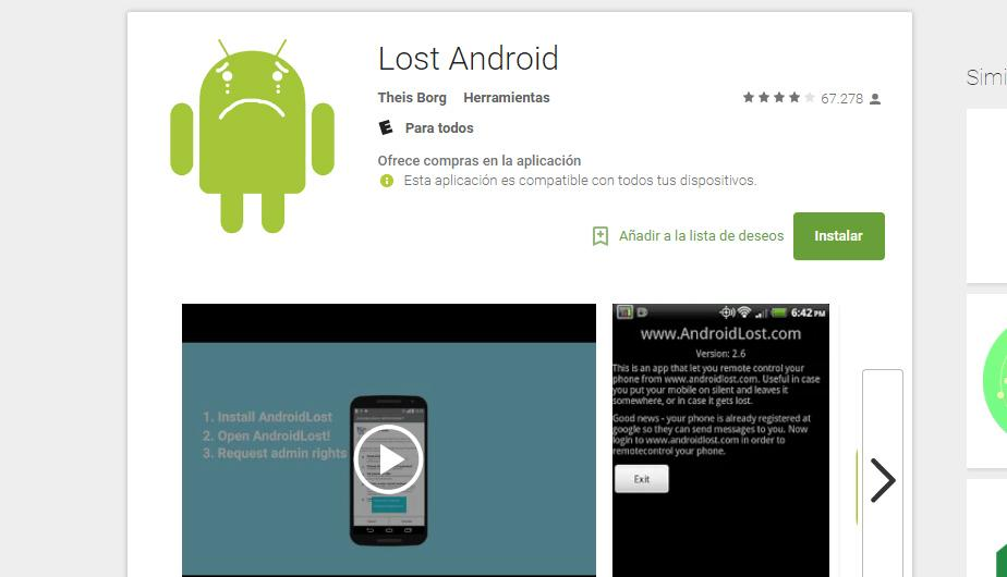 1. Lost Android. (Foto: Captura)