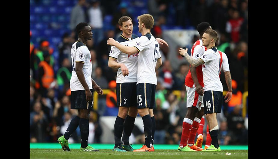 Tottenham mantiene su paternidad sobre Arsenal en el White Hart Lane y sigue en carrera por el título de la Premier League. (Foto: Getty Images)