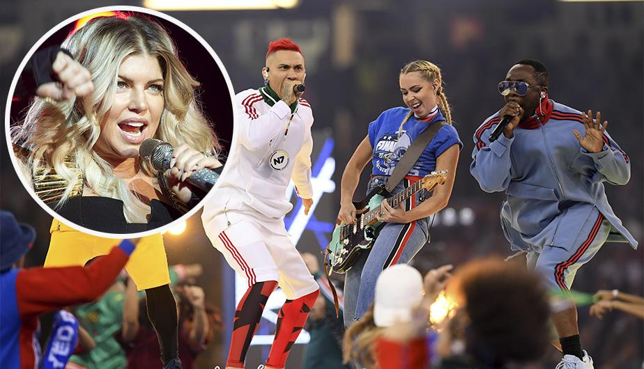 La agrupación Black Eyed Peas se presentó en la final de la Champions League 2017 sin Fergie. (Foto: Getty Images)