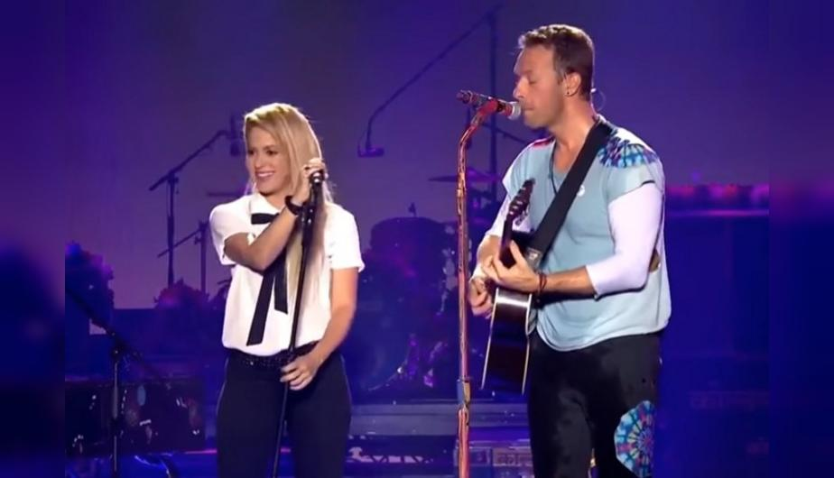 "Shakira y Coldplay se juntaron para cantar ""Me enamoré"", ""Yellow"" y otros éxitos. (Foto: Captura YouTube)"