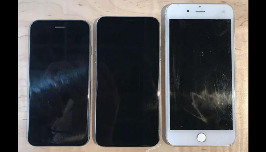 2. Parte frontal del iPhone 6s, iPhone 8 y iPhone 7 Plus. (Foto: Carved)