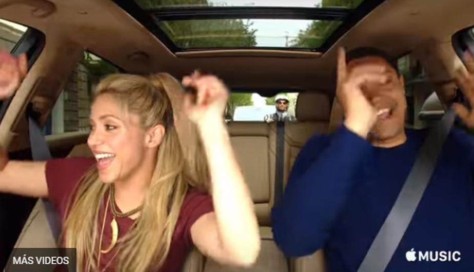 Shakira fue protagonista del programa Carpool Karaoke de Apple Music, espacio que compró los derechos de la popular sección de The Late Show with James Corden. (Foto: YouTube)