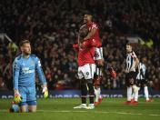 Manchester United goleó 4-1 al Newcastle por la Premier League