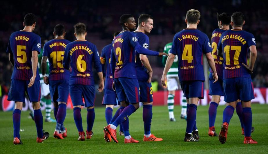 Barcelona vs Sporting Lisboa se enfrentaron en el Camp Nou por la Champions League. (Foto: Getty Images)