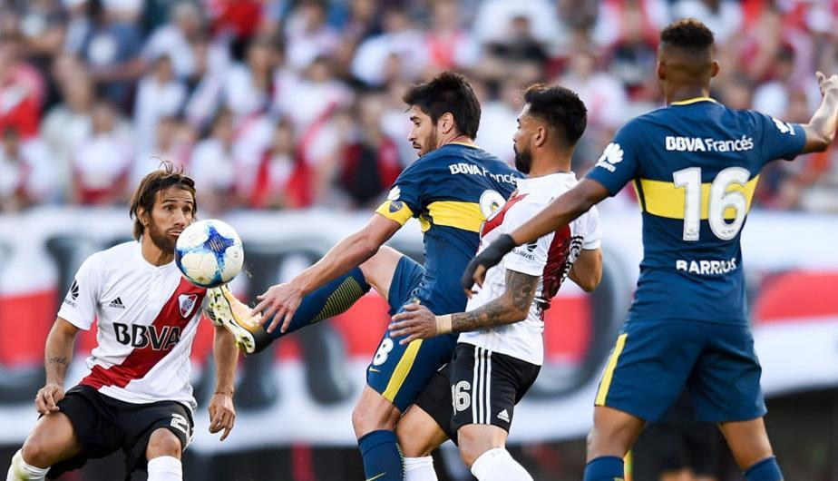 Boca Juniors vs River Plate jugaron el primer superclásico argentino del año. (Foto: Getty Images)