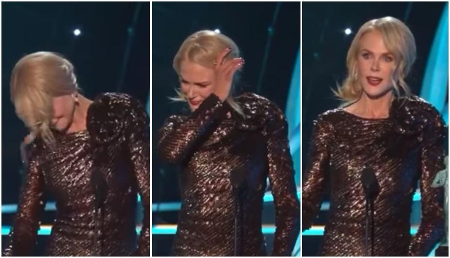 Foto 1: Actriz de 'Big Little Lies', Nicole Kidman remece YouTube por su emotivo discurso tras ganar como mejor actriz dramática en los Screen Actors Guild Awards 2018. (Foto: Captura de YouTube)