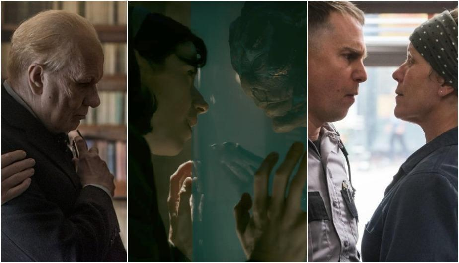"""Darkest Hour"", ""The Shape of Water"" y ""Three Billboards Outside Ebbing, Missouri"" son 3 de las 9 nominadas a Mejor Película en los Premios Oscar. (Foto: Focus Features/ Fox Searchlight Pictures)"