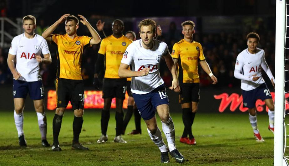 Harry Kane salvó al Tottenham en la Copa FA. (Foto: Getty Images)