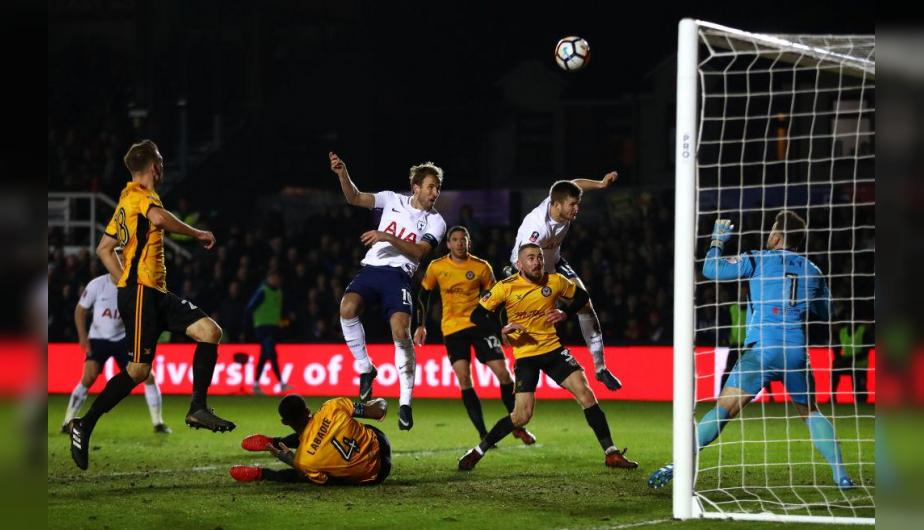 Harry Kane marcó el empate del Tottenham en el final del partido. (Foto: Getty Images)