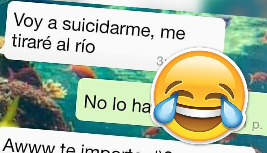 ¡Oh no! Le escribió a su ex pareja y le dijo que se iba a lanzar al río, y lo que ella respondió se volvió viral en WhatsApp. (Foto: Captura)
