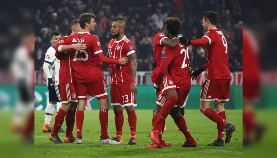 Bayern Munich le marcó un 5-0 al Besiktas por la Champions League. (Foto: Getty Images)