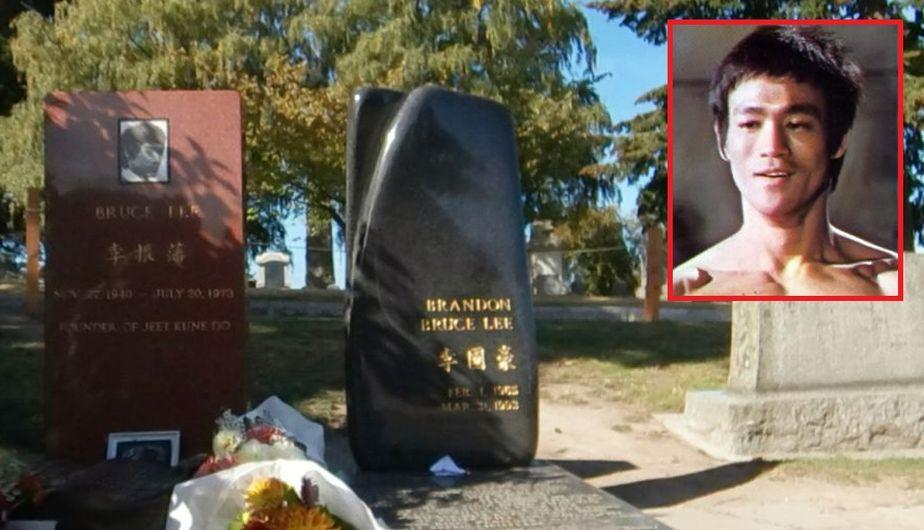 Un usuario buscó el cementerio Lake View, en USA, para conocer la tumba de Bruce Lee (Google Maps)