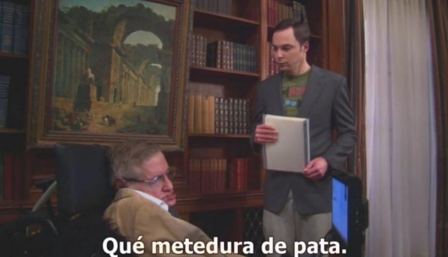 Foto 1: Stephen Hawking y la vez que participó en The Big Bang Theory. (Foto: Captura Video)