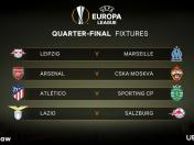 Las llaves de cuartos de final de la Europa League