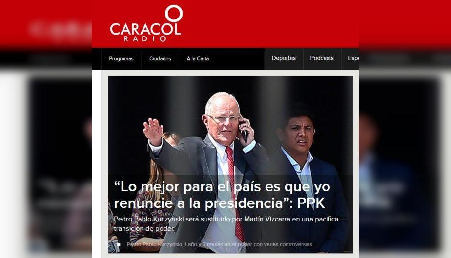 Caracol Radio de Colombia. (Foto: Captura)