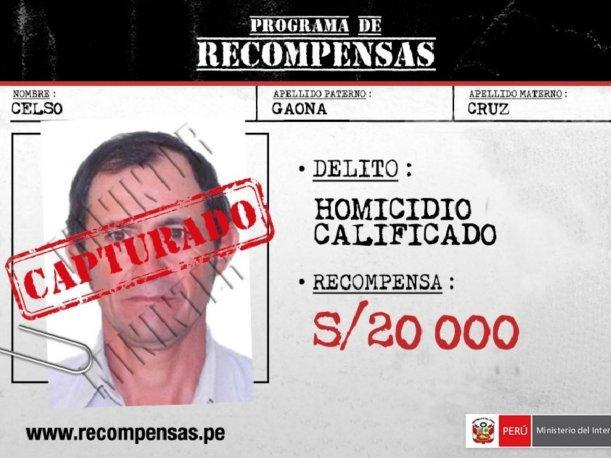 Policía captura en Piura a requisitoriado por homicidio calificado