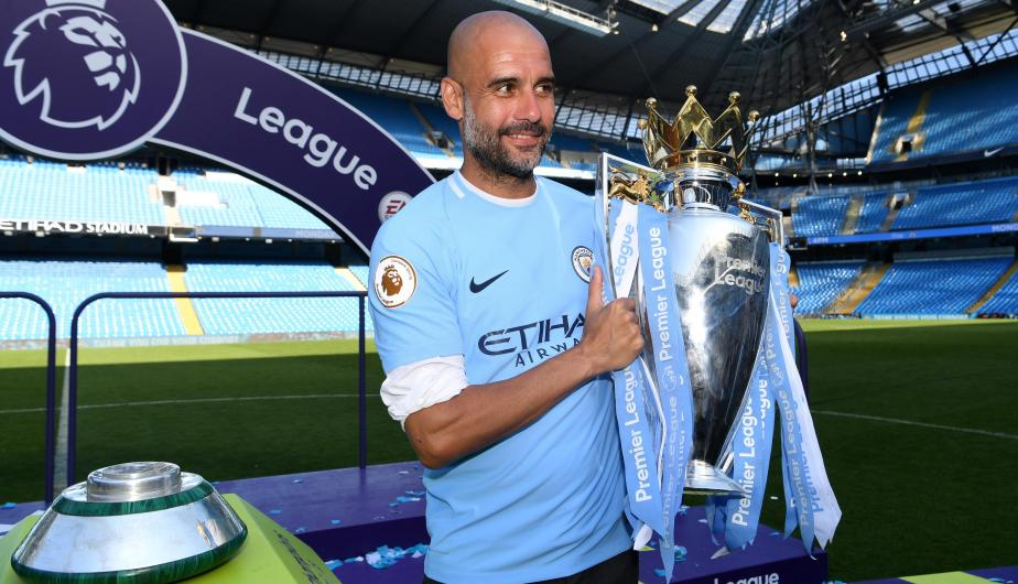 Pep Guardiola, técnico del Manchester City. | Foto: Getty