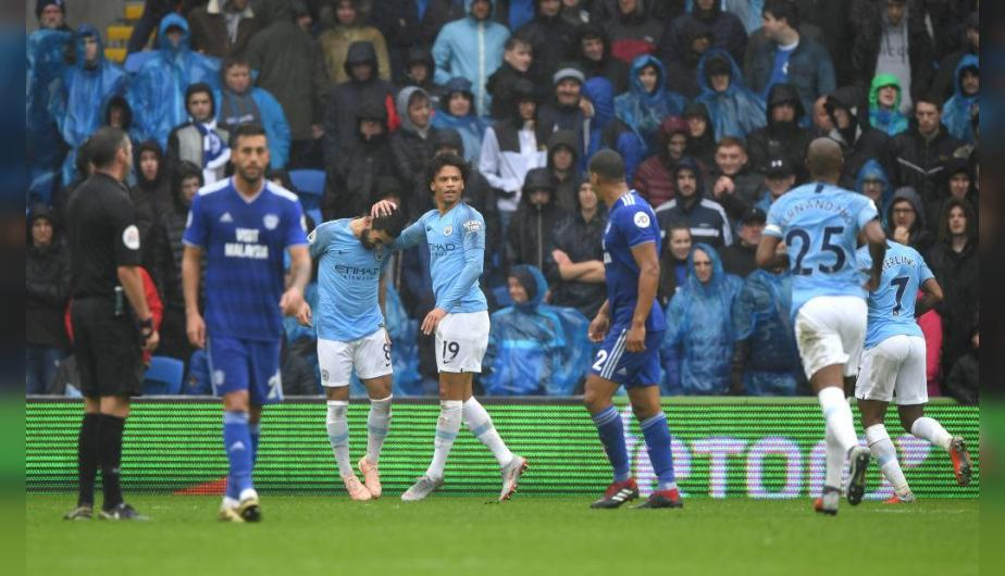 Manchester City y Cardiff City se enfrentaron en el Cardiff City Stadium por la Premier League. | Foto: Getty