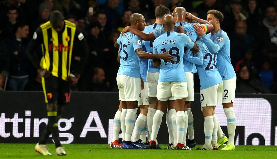 Manchester City y Watford se enfrentaron en el Vicarage Road por la Premier League. | Foto: Getty