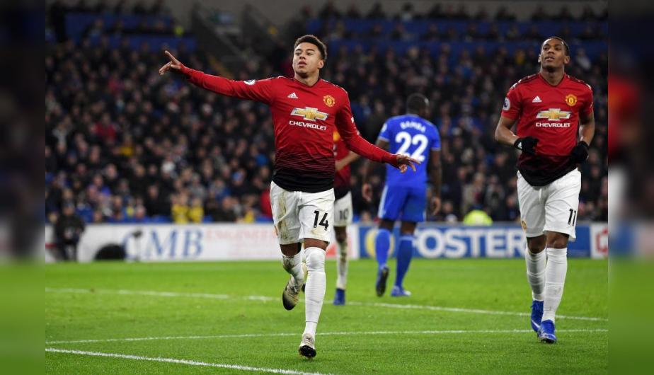 Manchester United y Cardiff City se enfrentaron en el Cardiff City Stadium por la Premier League. | Foto: Getty