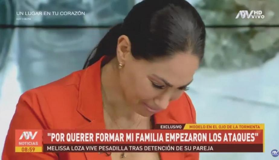 Melissa Loza estalla en llanto. (Foto: Captura de video)