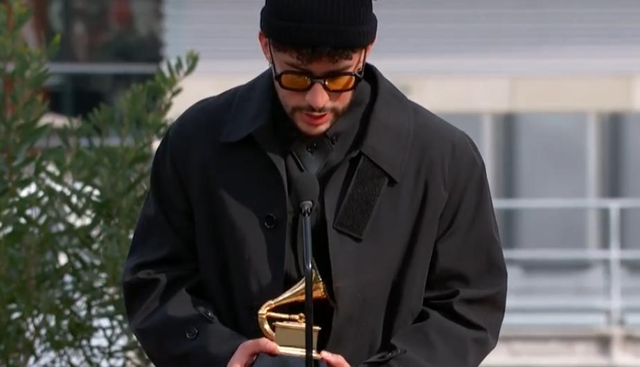 Bad Bunny logró su primer Grammy. (Foto: Captura-Grammy)