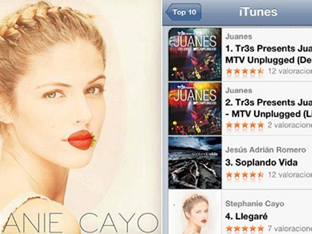 Disco debut de Stephanie Cayo se codea con Juanes en iTunes