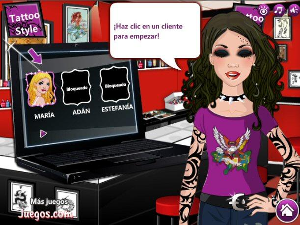 Juego Online - Tattoo Style Shop
