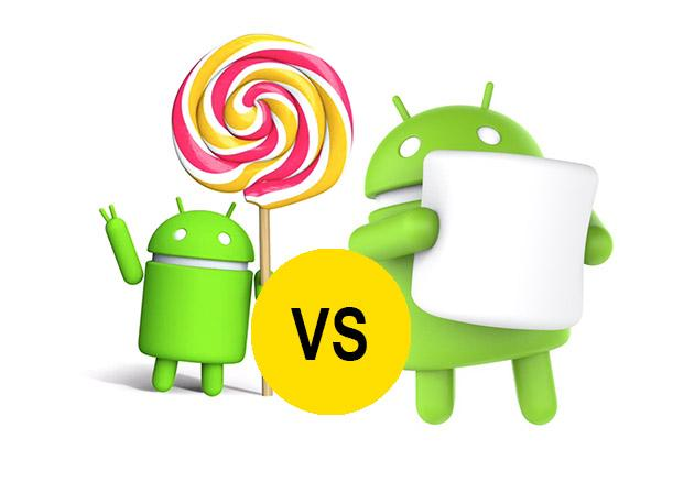 Marshmallow VS Lollipop ¿Qué sistema Android es mejor?
