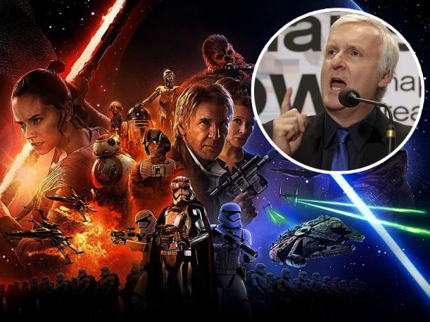 James Cameron lanzó esta fuerte crítica a 'Star Wars: The Force Awakens'