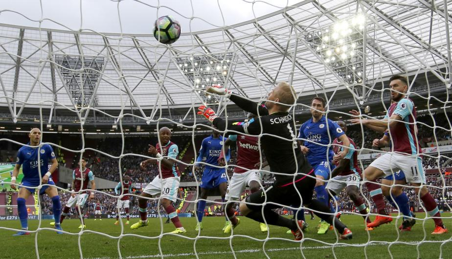 Leicester City vs West Ham se vieron las caras en el Estadio Olímpico de Londres por la jornada 29 de la Premier League. (Foto: Getty Images)