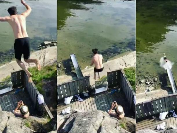 Este salto imposible es el video viral del momento