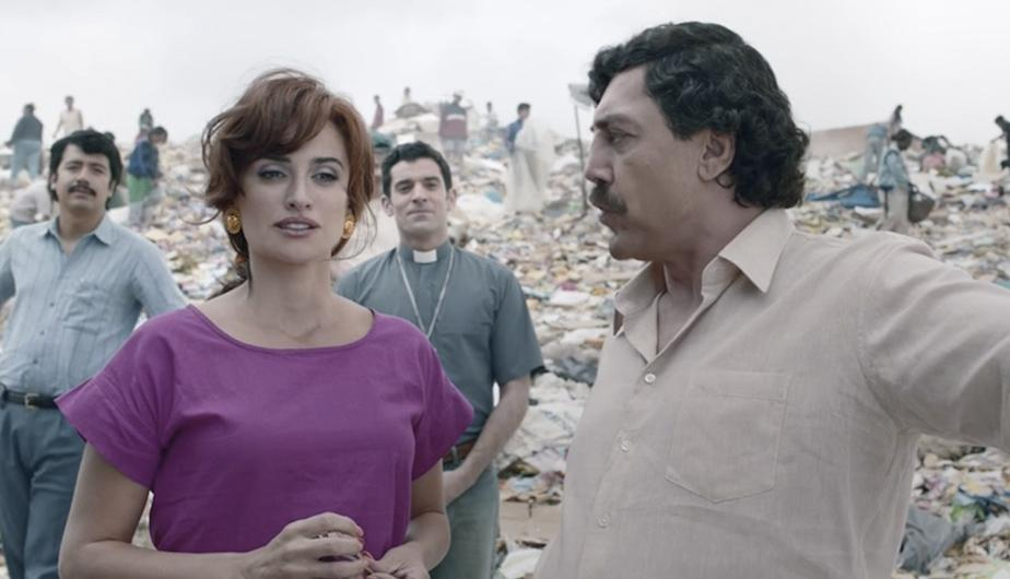 Foto 3: Penélope Cruz interpreta a Virginia Vallejo, mujer de Pablo Escobar. (Foto: Captura YouTube)
