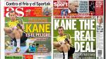 Real Madrid vs Tottenham y Champions League en portadas internacionales - Noticias de kiosko deportivo internacional