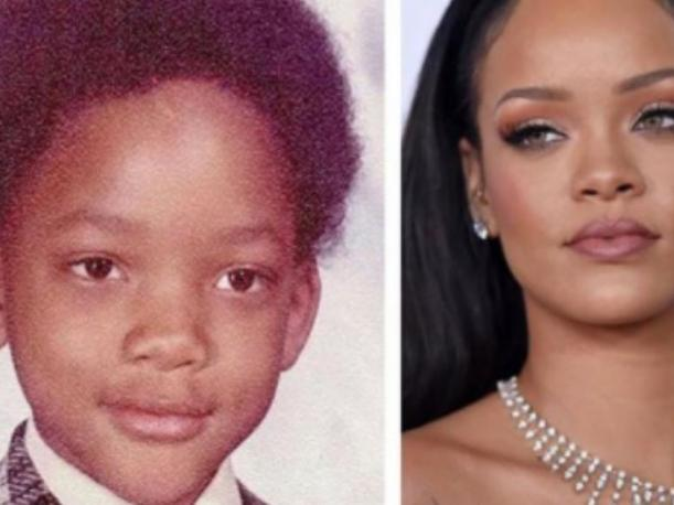 Foto 3: Will Smith de niño y Rihanna….. ¿Se parecen? (Foto: Instagram)