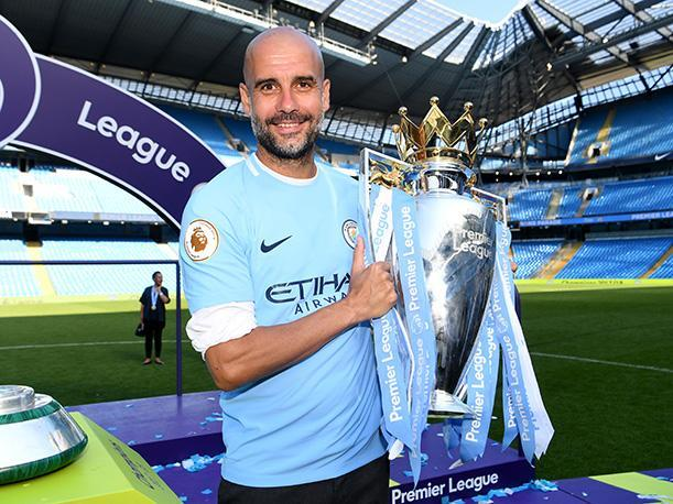 El de la temporada 2017-2018, es el primer título liguero de Guardiola en el City. (Foto: Getty Images)