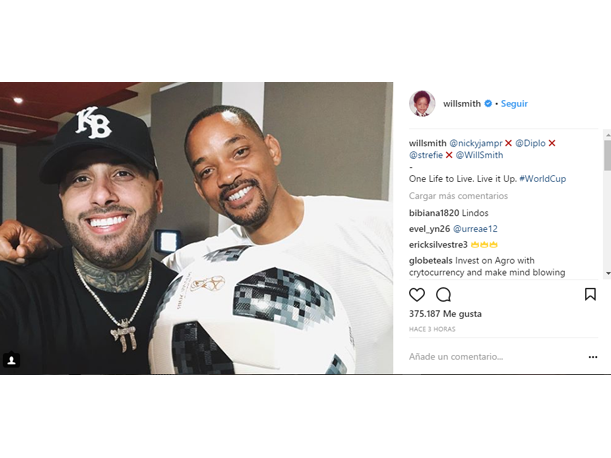Publicación de Will Smith en Instagram.